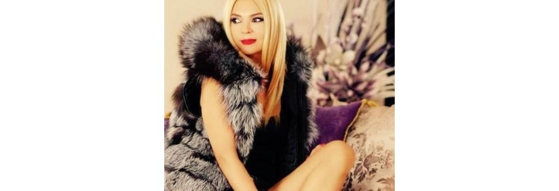 Crina Matei – shooting foto in Click, prezentare haine de blana Adis Efect